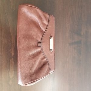 Brown leather Cole Haan clutch